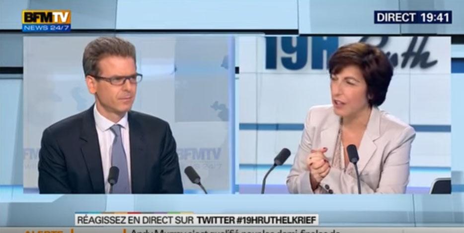 "BFM TV: "" Thibault de Montbrial face à Ruth Elkrief"""