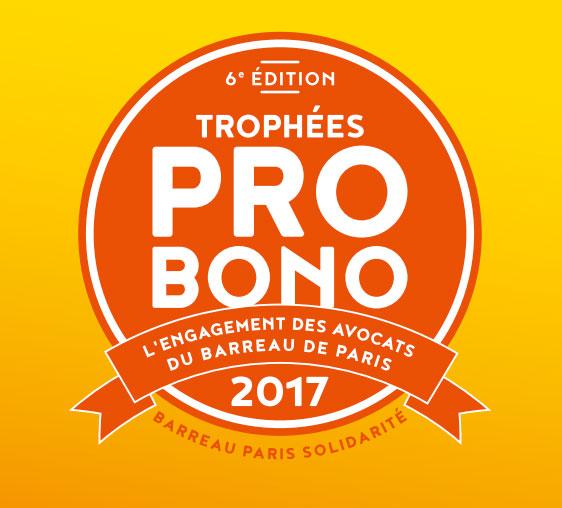 Trophées Pro Bono 2017: MI2 AVOCATS sélectionné, catégorie prix en Equipe, pour son engagement dans la lutte contre le terrorisme.