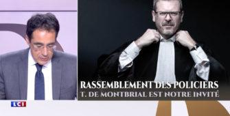 Rassemblement des policiers: Le 20H de Darius Rochebin sur LCI avec Thibault de Montbrial
